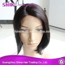2015 New arrival wholesale human hair short bob brazilian hair carnival wig