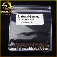 wholesale 1.0mm natural red garnet round cut loose gemstone