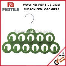 ZCX 215463 11Holes Non Slip Velvet Flocked Scarf Hanger/Jewelry Hanger
