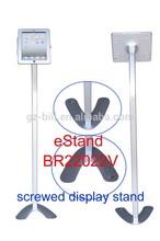 eStand BR22022V tablet floor stander for retailing display ipad security kiosk