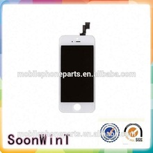 with anti dust mesh for iphone 5s lcd with touch digitizer with front glass with frame