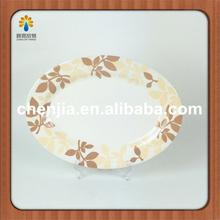14'' ovale di bambù melamina piatto proprio disegno