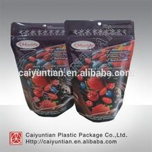 Custom printing foil laminated mylar ziplock bags /fruit packaging bag for cherry
