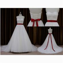Charming drape knee-length fashion and white wedding dress