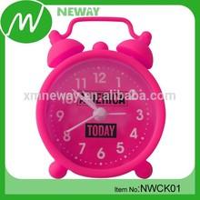 2015HOT multi-colors promotional item silicone travel alarm clock