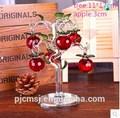 regalo de la decoración de cristal de color rojo manzana árbol