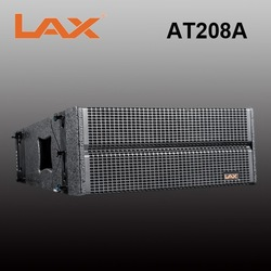 Dual 8inch 400W 2-way waterproof stage active line array speaker system/with build-in Class D amplifier
