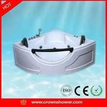 2015 New design indoor portable massage bathtub corner sitting triangular hydraulic bathtub