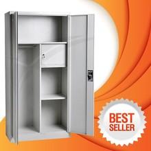 ikea style double door metal clothes locker with hanging rods