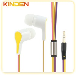 high quality fashion headphone earphone plastic for mobile and music player