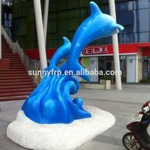 Fiberglass dolphin statue sculpture figure