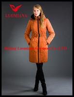 stocklot oxon brand short-style down jacket for women in tostado