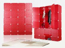 2015 PP plastic materal hot manufacturers clothes cabinet portable wardrobe closets design closet wardrobe large FH-AL0956-20