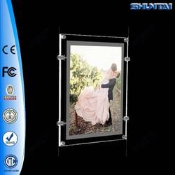 China supplier advertising frameless acrylic window led light frame