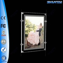 China supplier advertising frameless acrylic window led light frame
