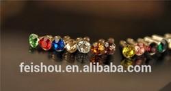 3.5mm Shinning Crystal Diamond Dust Plug For Mobile Phones anti dust plug charm