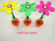 super flower ballpoint pen with pen holder for promotion