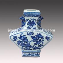 Home decorative ceramic blue and white antique porcelain vase