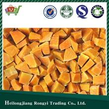 Chinese IQF Frozen Pumpkin Cut Price