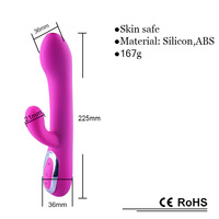 2014 best selling Newest full silicone surface USB magnet charging wireless rotation vibrator, best sex toy rotatable magic wand
