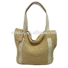 2014 custom nature color straw beach bag ,straw shopping bag,straw tote bag