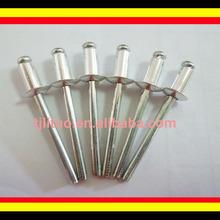 Aluminium pop rivets size,large flange head rivets wider grip