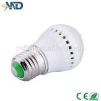 3w led plastic bulb 90-260V or DC12V solar high glow lled ball light outdoor