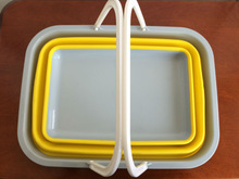 Plastic Foldable squareness Quality Oval Folding Pail/Bucket/Barrel
