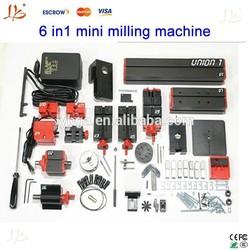 Factory price!!Multifunctional, 6 in 1 mini lathe mini milling machine, grinder & Driller & Miller & wood lathe & metal lathe