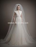 ATL11 South Africa V Neck Cap Sleeve Lace A Line Beautiful Pakistani Open Back Wedding Dresses