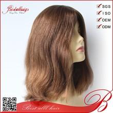 Top quality silk Virgin Human European Hair Jewish Wig