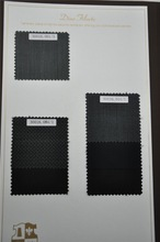 Super 130s wool silk blended suit fabric 245g/m, black and white in stock for made to measure service