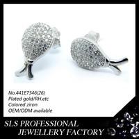925 sterling silver jewelry wholesale fashion earring stud CZ earrings imitation jewellery in dubai