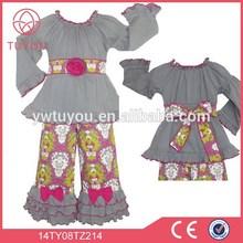 Lovely fashion baby girls clothing set boutique