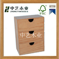 high quality small drawer decorative european style vintage DIY wooden storage box