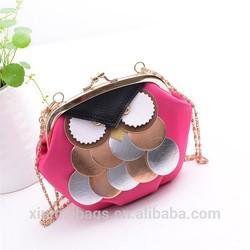 Alibaba China Fashion Shoulder Sling Bag Owl Messenger Bag for Girls