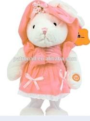 Plush electronic singing &dancing rabbit animal toy/electronic pet rabbit/electirc stuffed animal toy rabbit kids gift