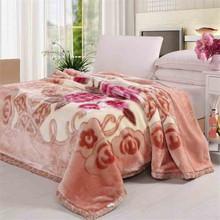 Crocheted wholesale mink wool plush for blanket supplier