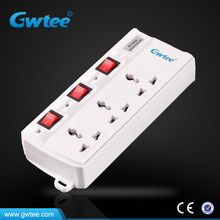 Portable battery powered plug outlet with switch