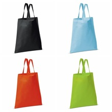 Reusable black pp blank shopping tote bag,PP recycle cheap non woven tote bag,Promotional shopping bag no logo