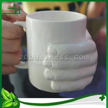 Creative ceramic white big milk mug