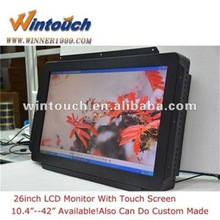 26 inch wide screen monitor touch screen with HDM I/DVI/VGA input
