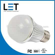 7w LET A19 led bulb UL daylight white dimmable e27 led bulb 120v energy saving lamp bulb