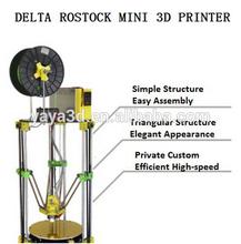 3D Printer Unassembled-Full Kit Delta Rostock Mini 3D Printer Private Custom Easy to Assembly Digital Printers