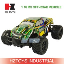 Chinese toy vehicle 1:16 scale rc monster truck toy with 20km/h speed.