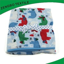 2014 top sell low price photo printed polar fleece blanket with the cheapest price