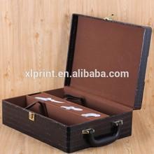 2 bottles PU leather wine carrier wine sets holder