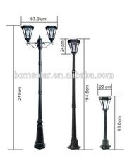 Solar LED Lamp Post, Aluminum LED Garden Light, LED Solar Street Lamp Post Light