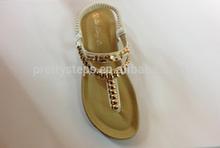 2014 china cheap flat beach roman shoes guangzhou factory