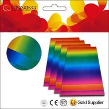 glossy coated rainbow paper A4 cardboard paper rainbow print